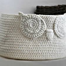 owl decorations for home shop crocheted owl basket on wanelo