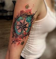 100 awesome compass tattoo designs art and design