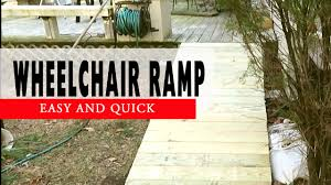 How To Build A Garden Shed Ramp by How To Build A Wheelchair Ramp To Deck Diy Youtube