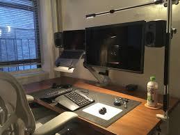 industrial designer programmer ergonomic standing desk setup