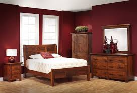 roswell rustic sleigh bed countryside amish furniture