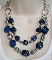 large silver bead necklace images Huge chunky cobalt blue jade statement by 123gemstones on zibbet jpg