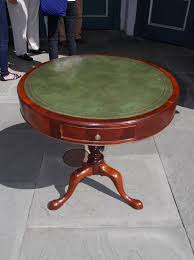 coffee table leather top english mahogany leather top drum table circa 1830 for sale at