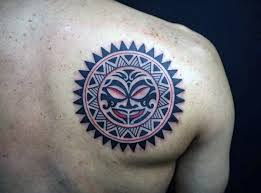 50 tribal sun tattoo designs for men black ink rays
