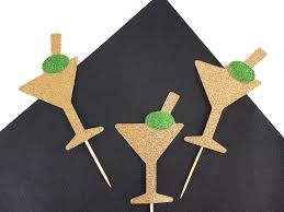 martini cupcake martini cupcake toppers cocktail cupcake toppers dirty 30