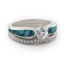 Turquoise Wedding Rings by Personalise Your Engagement And Wedding Rings