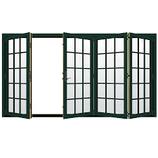 Outswing Patio Door by Shop Jeld Wen W 4500 124 1875 In 15 Lite Glass Hartford Green Wood