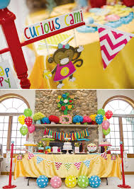 curious george party colorful modern curious george birthday party hostess with