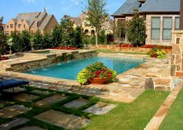 backyard swimming pool designs with awesome landscaping design