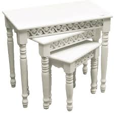 white nest of tables nest of tables from the belgravia range