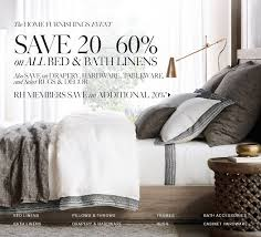 restoration hardware save 20 60 on all bed u0026 bath linens the