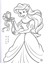 fancy design princess mermaid coloring pages free little mermaid