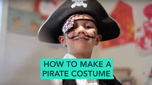 how to make a pirate costume easy diy halloween care com youtube