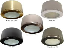 Brushed Brass Light Fixtures by 120 Volt Puck Lights Xenon