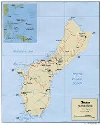 Guam On World Map Maps World Map Of Guam