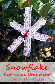 snowflake ornaments story for preschoolers preschool powol packets