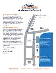 Seward Alaska Map by Major Marine Tours U2013 Seward U2013 Great Alaskan Holidays Rv Rental