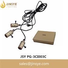 triple light bulb socket e26 e27 pendant light triple brass l socket braided twisted cable
