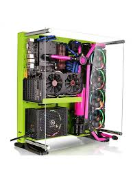 cabinet for pc thermaltake mid tower cabinet atx core p5 open frame green