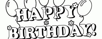 colouring pages birthday baloons happy birthday party