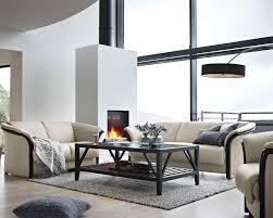 stressless by ekornes manhattan contemporary 3 seat sofa paloma
