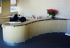 Granite Reception Desk Astral Plane Woodworks Wilmington De Kitchens Cabinets Furniture