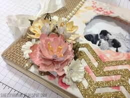 burlap photo album sttr with heart challenge floral wedding album