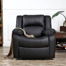 Oversized Leather Recliner Chair Classic Bonded Leather Oversize Padding Recliner Chair Tv Room