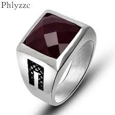 aliexpress buy mens rings black precious stones real black mens rings stainless steel wedding rings for