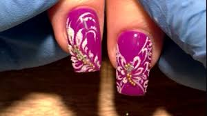 butterflies of flowers beautiful and simple spring nail design