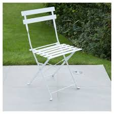 Metal Folding Bistro Chairs Buy Metal Folding Bistro Chair White From Our Outdoor Chairs
