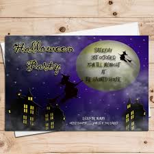 10 personalised halloween witches party invitations n7