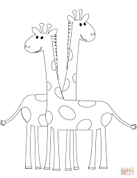 pretty ideas giraffe coloring pages free printable giraffe