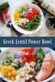 greek lentil power bowl nutrition to fit