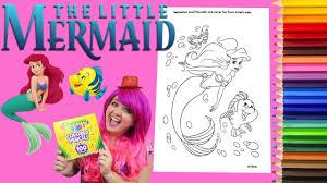 coloring ariel mermaid disney coloring book