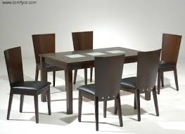 Modern Dining Room Furniture Sets Table Works Well In A Long Narrow Room It Leaves More Room 9 Pc