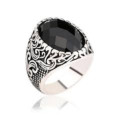 big male rings images Antique carved flower wedding male rings for men jewelry love big jpg