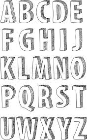 Best ideas about Cool Fonts Alphabet on Pinterest   Cool