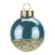 blue gold glitter baubles dzd