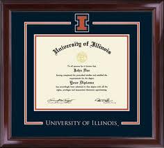 of illinois diploma frame of illinois spirit medallion diploma frame in encore