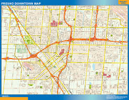 United States Wall Map Laminated by Fresno Downtown Map Netmaps Usa Wall Maps Shop Online