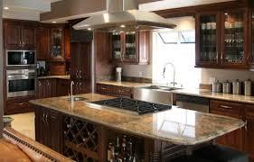 Dark Walnut Kitchen Cabinets by Dark Kitchen Cabinets With Light Countertops Dark Espresso Walnut