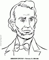 the incredible as well as attractive abraham lincoln coloring page