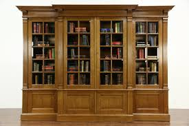 book case with glass doors sold french oak 1920 u0027s antique 10 u0027 library bookcase beveled