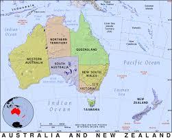 Map Australia Australia And New Zealand Public Domain Maps By Pat The Free