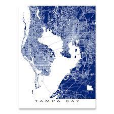 Florida Maps Tampa Bay Map Print Florida U2013 Maps As Art