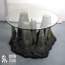 themed coffee table stalagtable made faux rock coffee table or side table