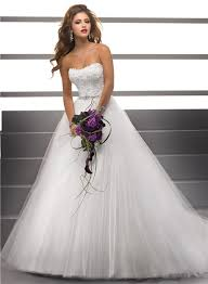 wedding dress with beading gown strapless lace tulle wedding dress with beading
