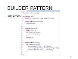 builder pattern in java 8 design patterns creational patterns wattanapon g suttapak software