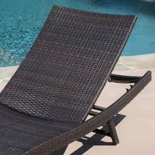 Outdoor Lounging Chairs 2pc Ergonomic Wicker Outdoor Chaise Lounge Chairs